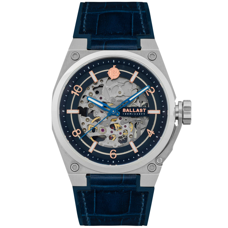 Ballast Valiant Officer Automatic Silver Blue