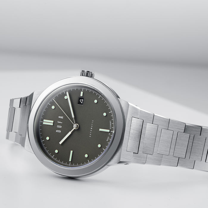 Dufa Gunter Automatic Silver Grey angled shot picture