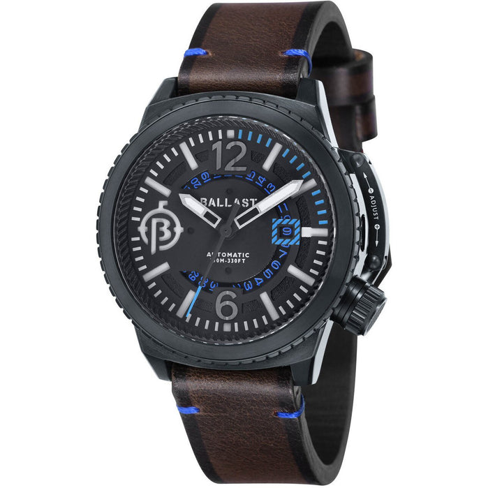 Ballast Trafalgar Automatic Brown Black Blue angled shot picture