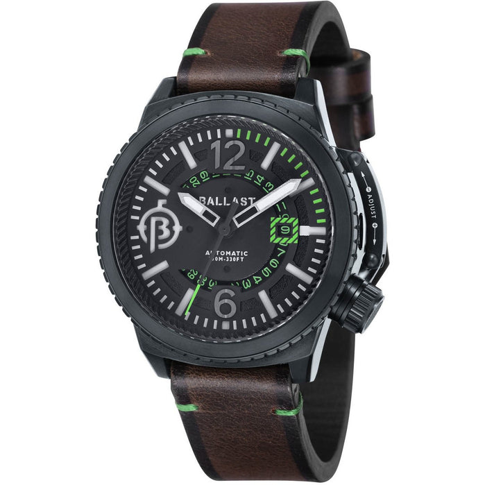 Ballast Trafalgar Automatic Brown Black Green angled shot picture