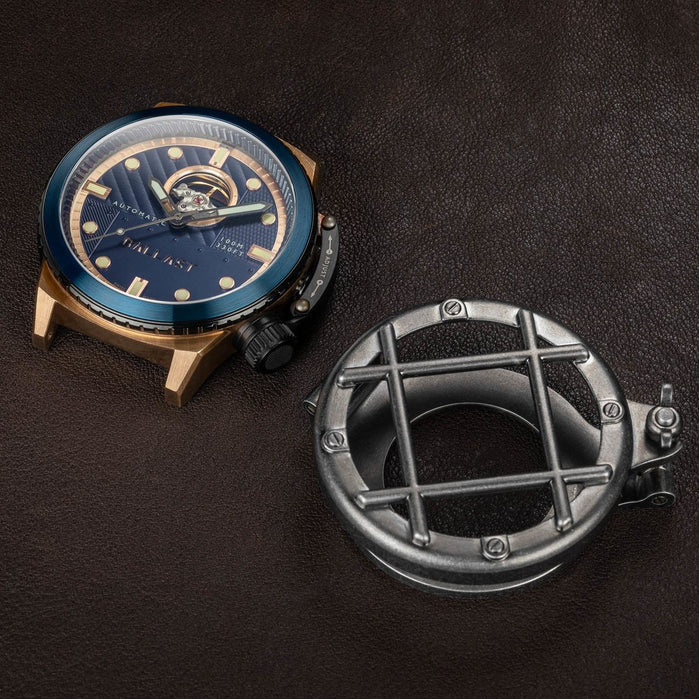 Ballast Trafalgar Swiss Automatic Bronze Blue angled shot picture