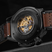 Ballast Trafalgar Skeleton Automatic Black Brown