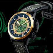 Ballast Trafalgar Skeleton Automatic Black Green