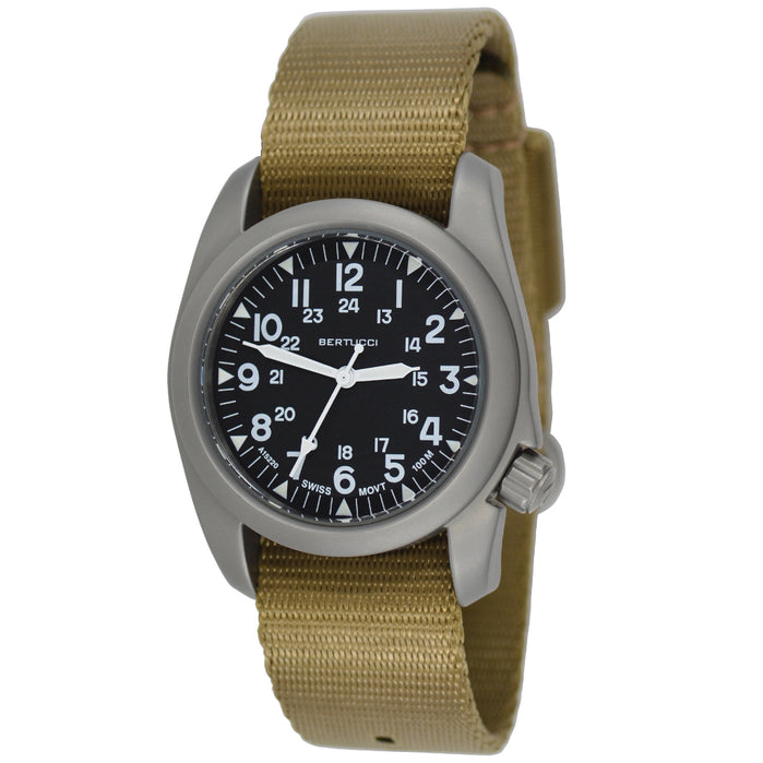 Bertucci A-2S Vintage Black Field Khaki angled shot picture