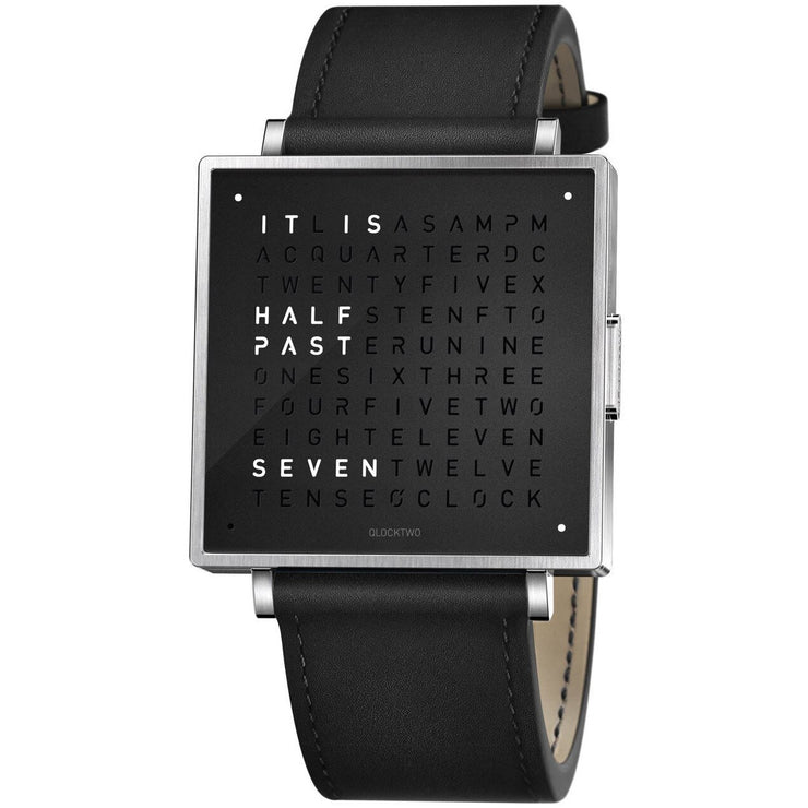 Qlocktwo W 39mm Pure Black