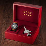 CCCP MIG-21 Automatic Silver Brown Limited Edition