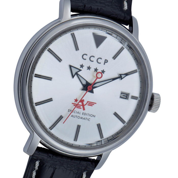 CCCP Heritage Automatic Silver Black angled shot picture
