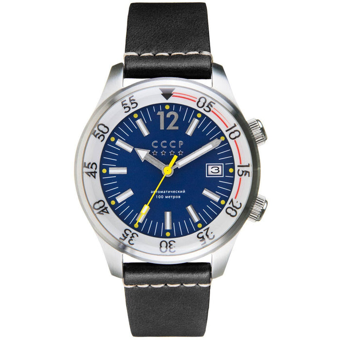 CCCP Black Sea Automatic Silver Black Blue angled shot picture