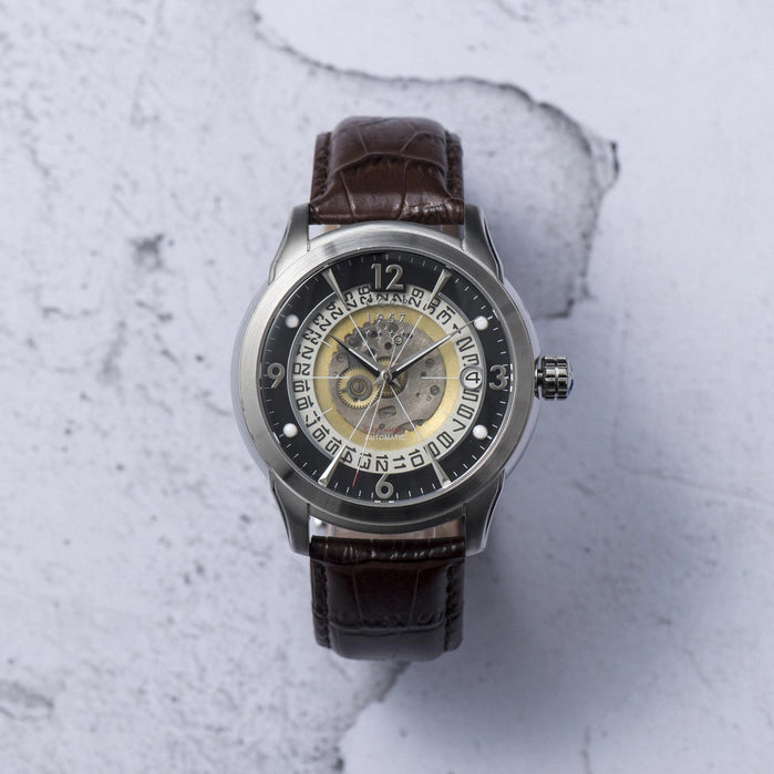 CCCP Sputnik-1 Automatic Silver Brown Black angled shot picture