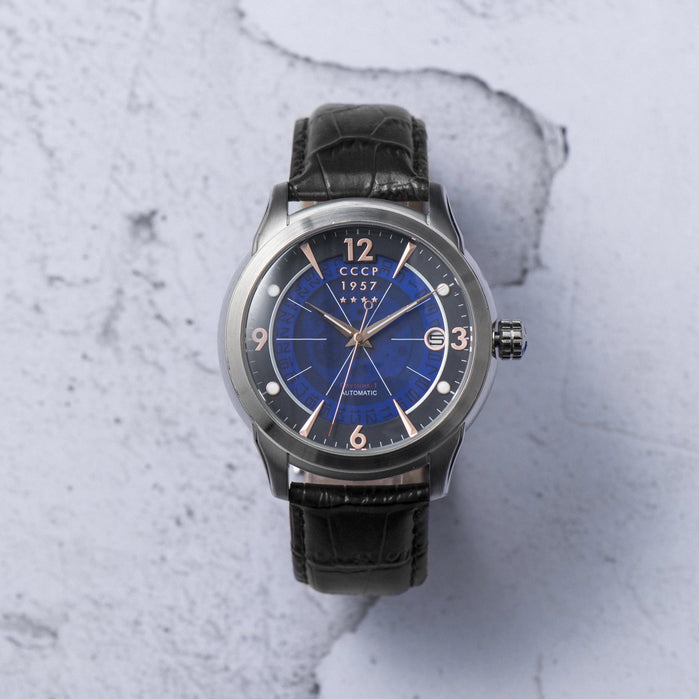 CCCP Sputnik-1 Automatic Silver Blue angled shot picture