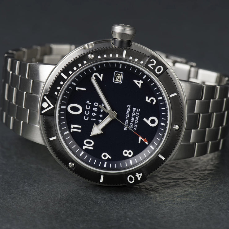 CCCP Kashalot Submarine Automatic Silver Blue SS