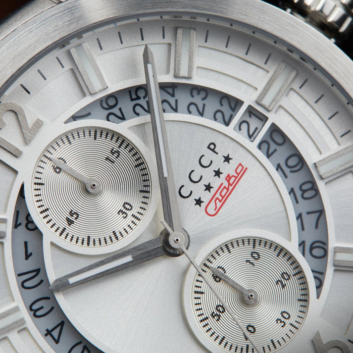 CCCP Balaklava Chronograph Silver angled shot picture