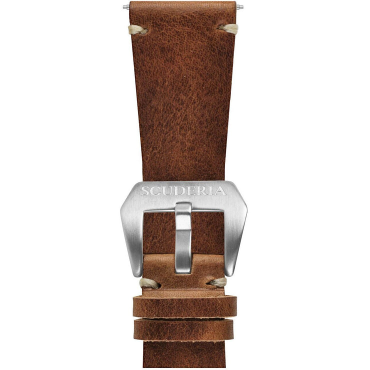 CT Scuderia 26mm Waxed Medium Brown Leather Strap