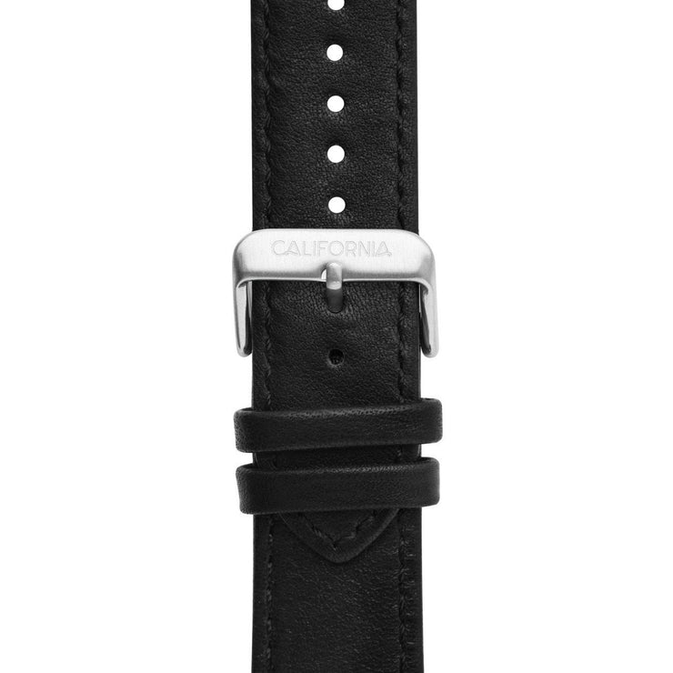 California Watch Co. 22mm Leather Black Silver