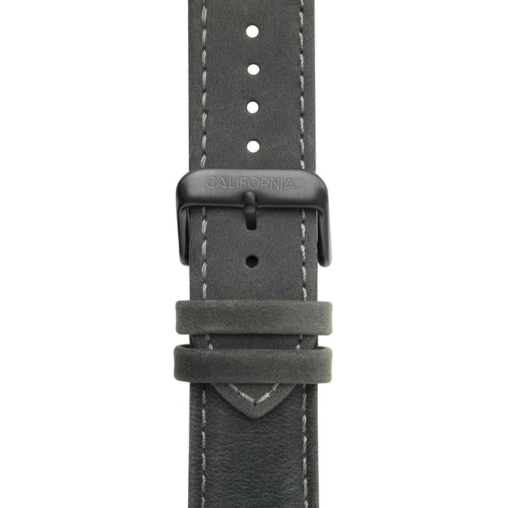 California Watch Co. 22mm Leather Dark Gray Gunmetal