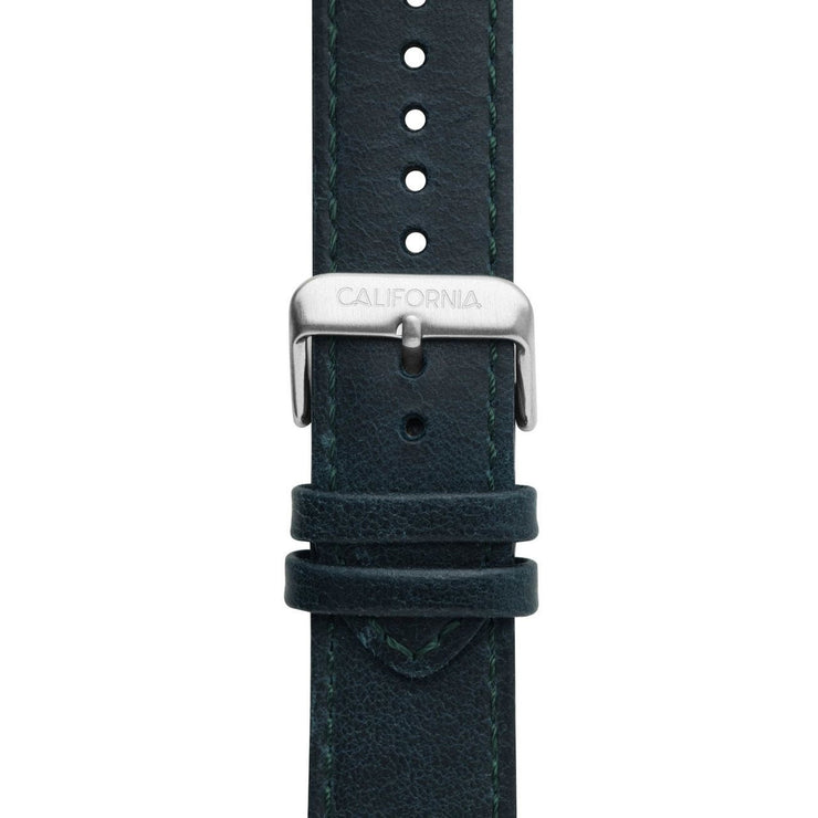 California Watch Co. 22mm Leather Navy Silver