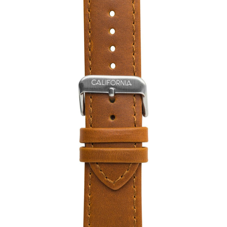 California Watch Co. 22mm Leather Brown Silver