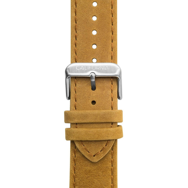 California Watch Co. 22mm Leather Sand Silver
