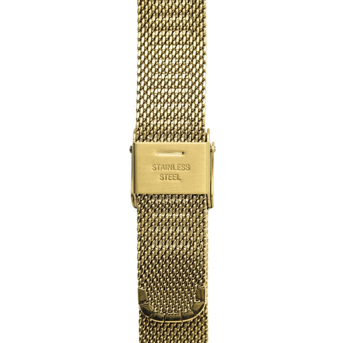 California Watch Co. 14mm Mesh Gold angled shot picture