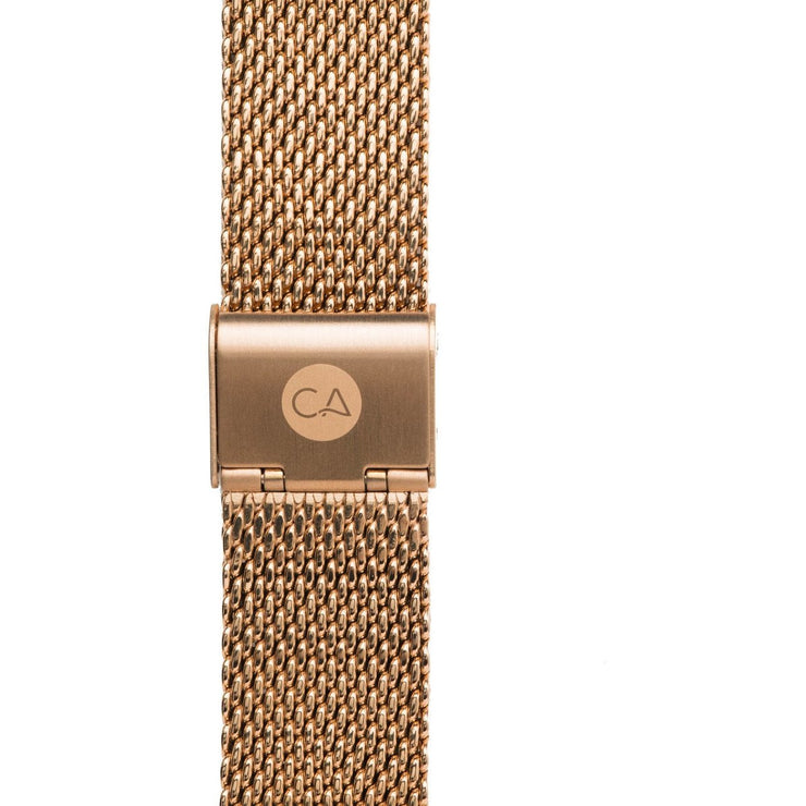 California Watch Co. 22mm Mesh Rose Gold