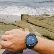 California Watch Co. Mavericks Chrono Leather Deep Blue Gray