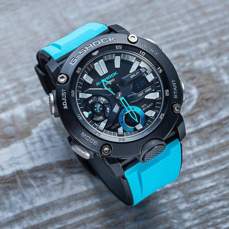 G-Shock GA2000 Carbon Core Ana-Digi Black Aqua