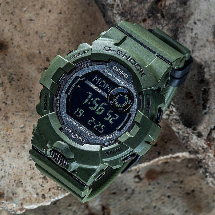 G-Shock GBD800UC G-Squad Connected Green angled shot picture