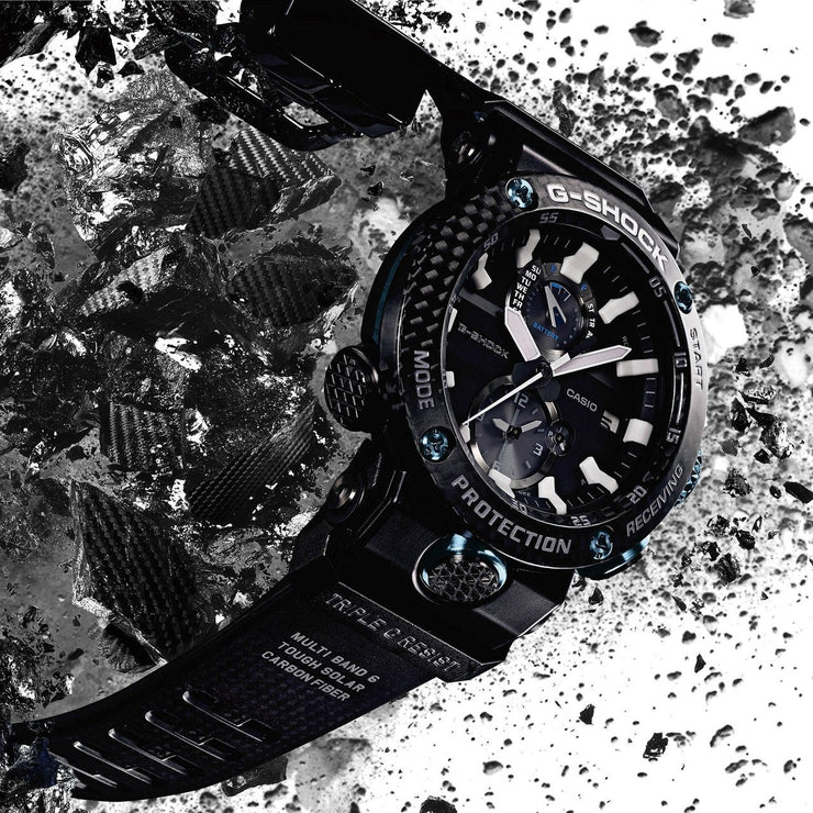 G-Shock GWRB1000 Gravitymaster Carbon Guard Solar Black Blue