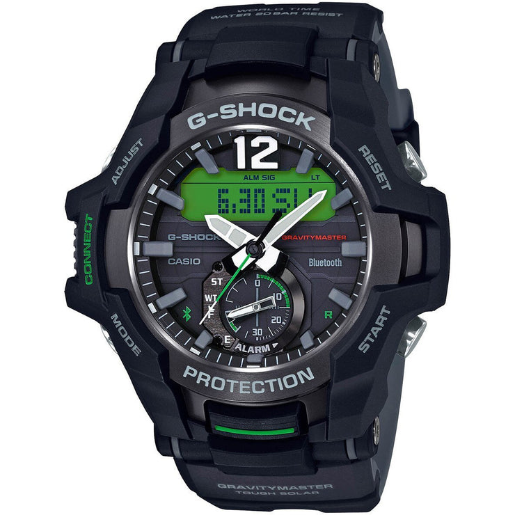 G-Shock GR-B100 Gravitymaster Connected Solar Black Green