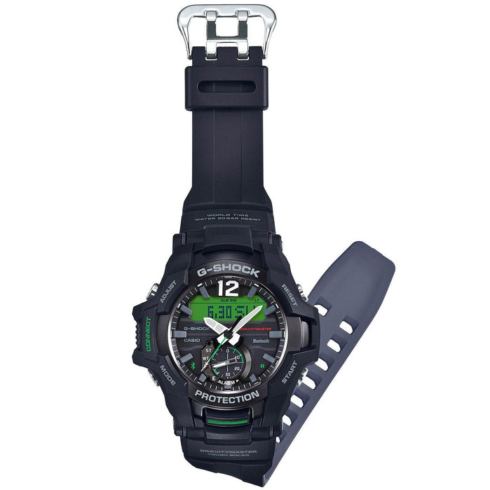 G-Shock GR-B100 Gravitymaster Connected Solar Black Green angled shot picture