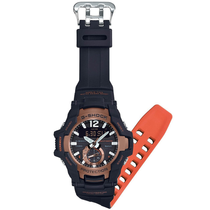 G-Shock GR-B100 Gravitymaster Connected Solar Black angled shot picture