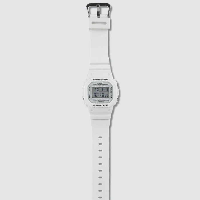 G-Shock DW5600 Classic Digital Marine White angled shot picture