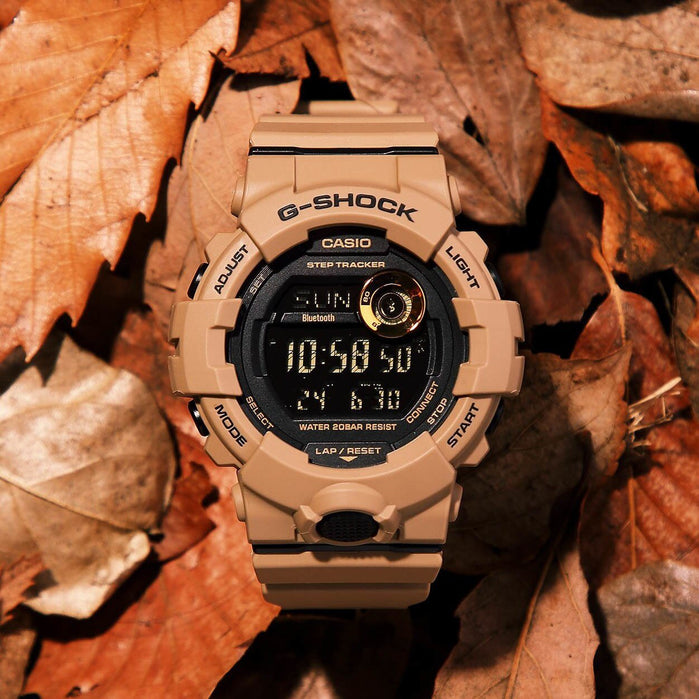 G-Shock GBD800UC G-Squad Connected Tan angled shot picture