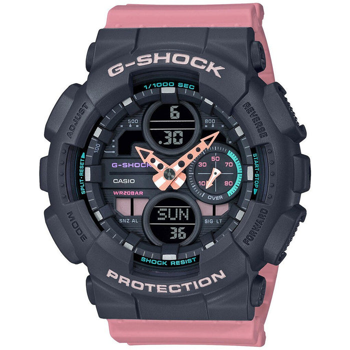 G-Shock GMAS140 G-Series Ana-Digi Pink Black angled shot picture