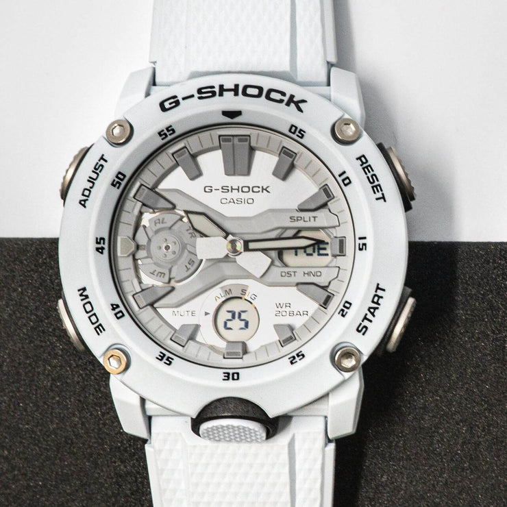 G-Shock GA2000S Carbon Core White Grey