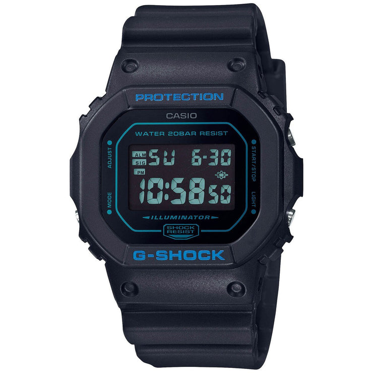 G-Shock DW5600 Mirror Digital Black Blue