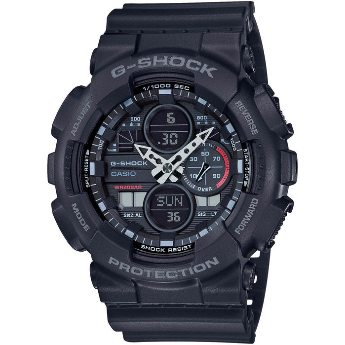 G-Shock GA140 90's Collection Ana-Digi Black angled shot picture