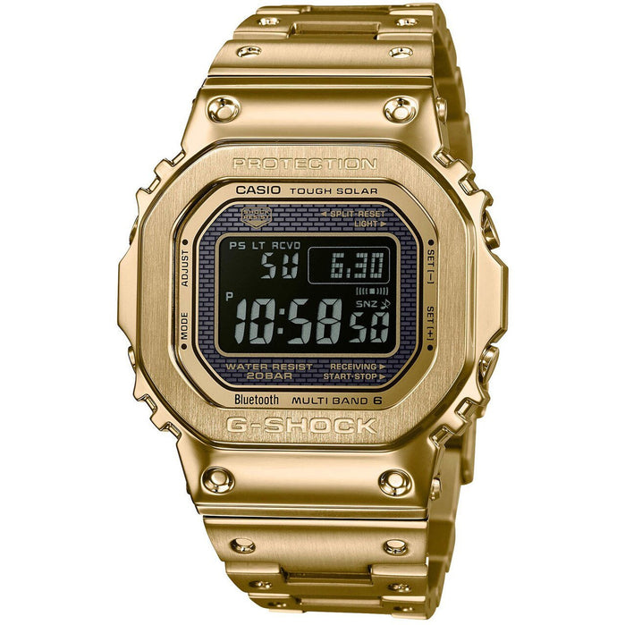 G-Shock GMWB5000 Full Metal Connected Solar Gold Black angled shot picture