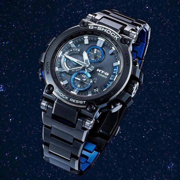 G-Shock MTG-B1000 Connected Solar Black Blue