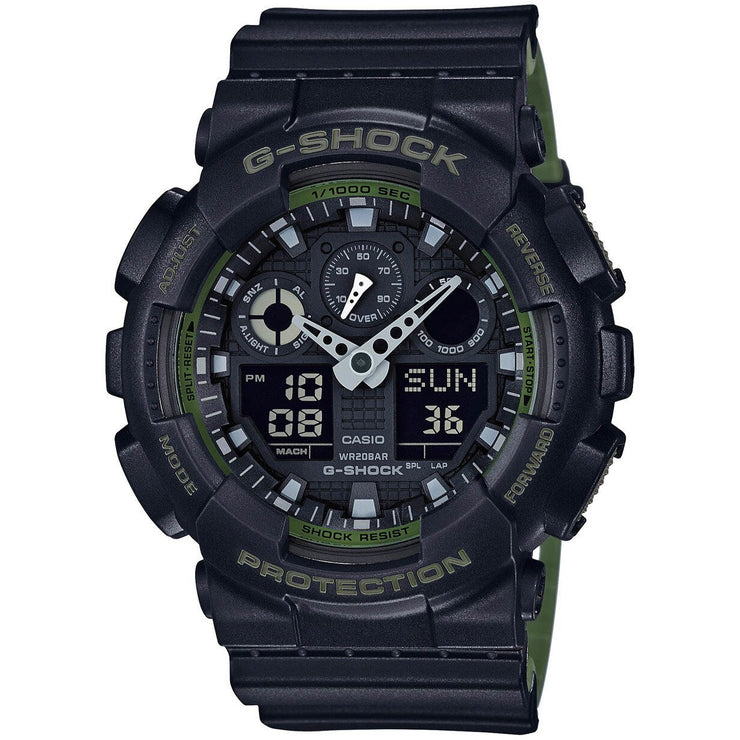 G-Shock GA-100 Military Series Black Green