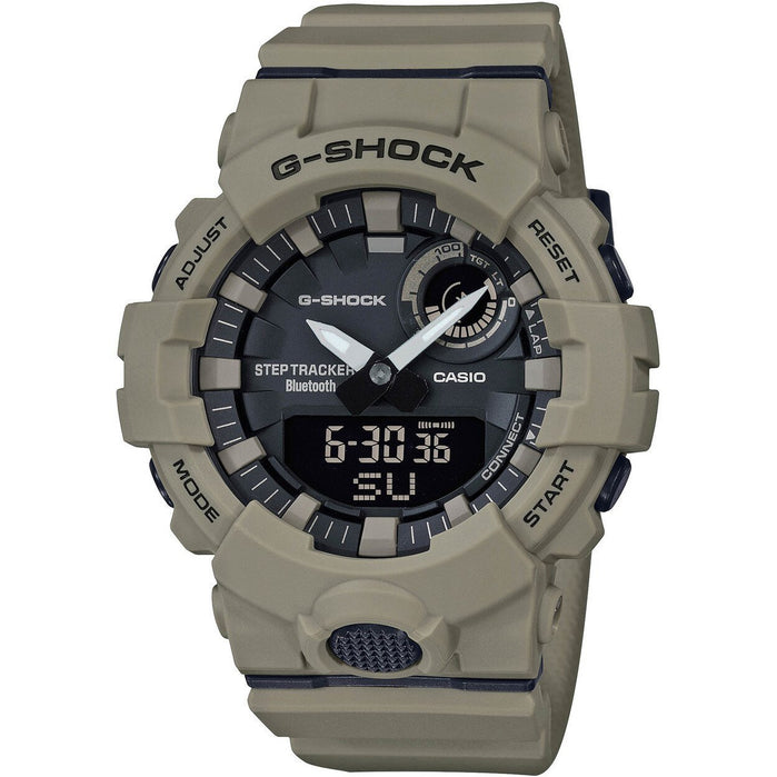 G-Shock GBA800UC G-Squad Ana-Digi Connected Tan angled shot picture