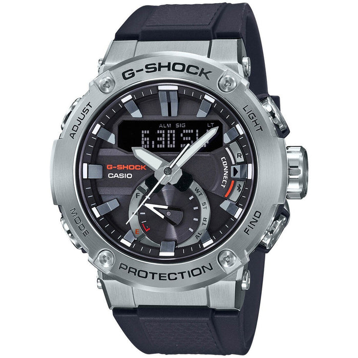 G-Shock GSTB200 Carbon Core Solar Ana-Digi Black Silver angled shot picture