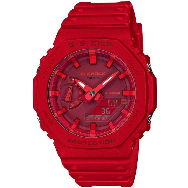 G-Shock GA2100 Carbon Core Guard Ana-Digi Red Out