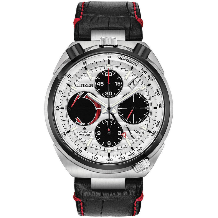 Citizen Eco-Drive Tsuno Chrono Racer Black Red