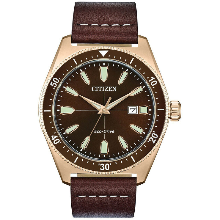Citizen Eco-Drive Brycen Brown Gold