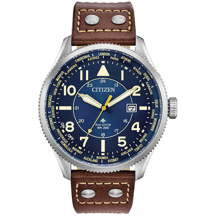 Citizen Eco-Drive Promaster Nighthawk Blue Brown