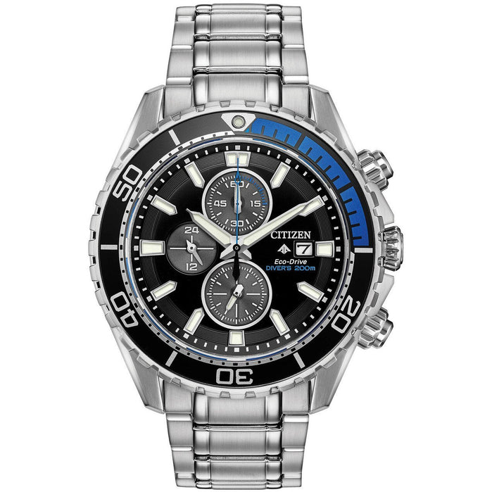 Citizen Eco-Drive Promaster Diver Black Blue angled shot picture