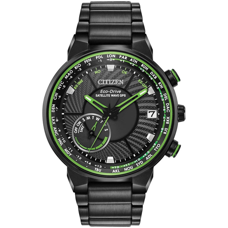 Citizen Eco-Drive Satellite Wave GPS Freedom Green Black