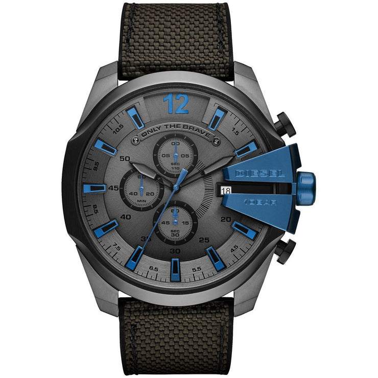 Diesel DZ4500 Mega Chief Chronograph Grey Blue