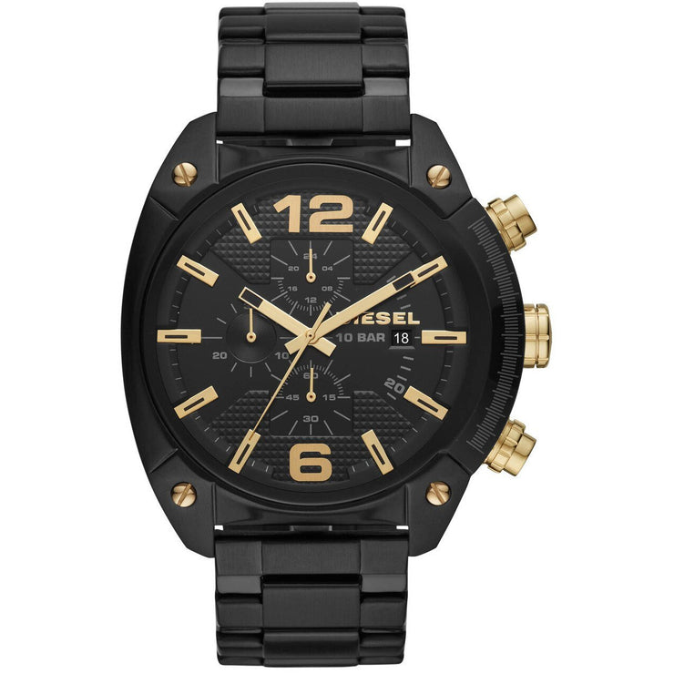 Diesel DZ4504 Overflow Chrono Black Gold SS